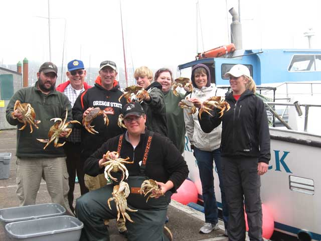 Crabbing with Yaquina Bay Charters