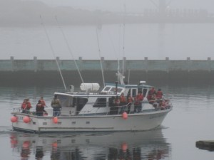 We took about 200 local schoolkids out for a whale watch on Tuesday!