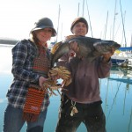 Jed and Sally had a great time fishing and even caught some crab!